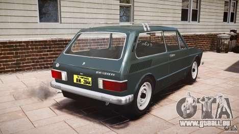 Volkswagen Brasilia pour GTA 4 Vue arrière de la gauche