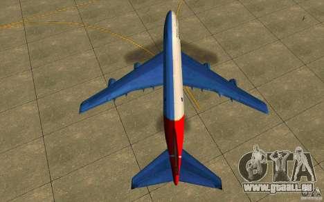 Boeing Qantas 747-400 pour GTA San Andreas vue de droite