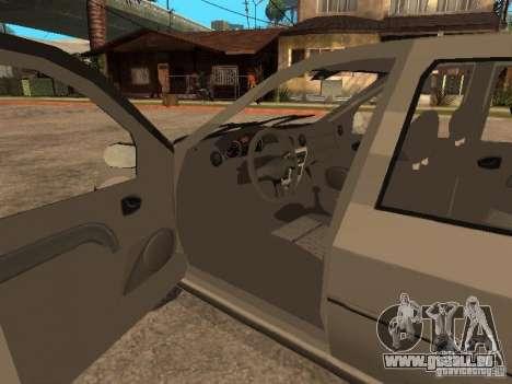 Dacia Logan 1.6 für GTA San Andreas obere Ansicht