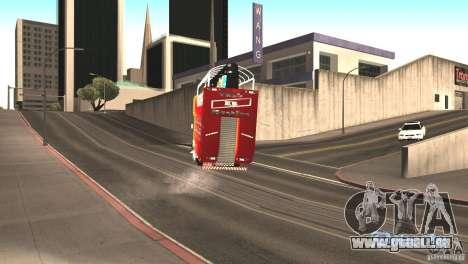 Scania 93H 6x2 Trio Eletrico für GTA San Andreas Rückansicht