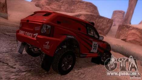 Range Rover Bowler Nemesis pour GTA San Andreas sur la vue arrière gauche