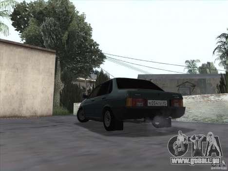 Drain de VAZ 21099 pour GTA San Andreas laissé vue