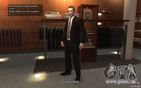Offene Jacken mit Krawatten für GTA 4 Sekunden Bildschirm