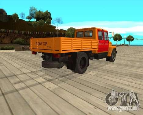 GAZ 3309-Warnblinkanlage für GTA San Andreas zurück linke Ansicht