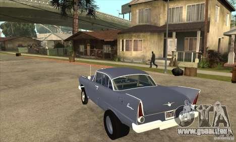 Plymouth Savoy Gasser 1957 pour GTA San Andreas sur la vue arrière gauche