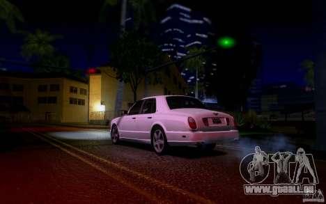 Bentley Arnage pour GTA San Andreas vue de dessous