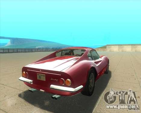 Ferrari Dino 246 GT pour GTA San Andreas sur la vue arrière gauche