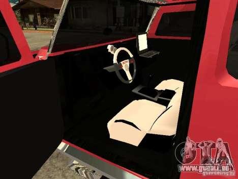 Hummer H2 Diablo für GTA San Andreas Rückansicht