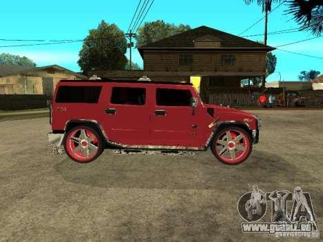 Hummer H2 Diablo für GTA San Andreas zurück linke Ansicht