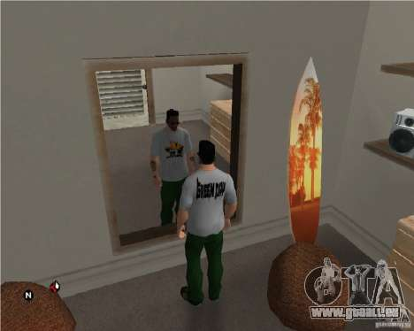 Grüne Tag T-shirt für GTA San Andreas