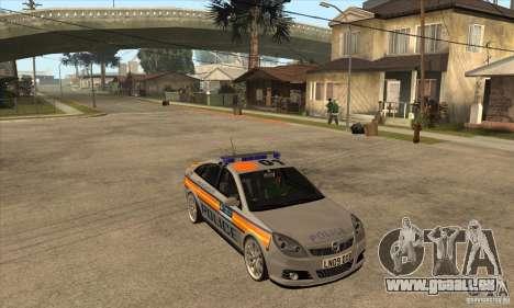 Opel Vectra 2009 Metropolitan Police für GTA San Andreas Rückansicht