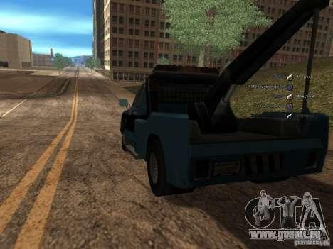 Chevrolet Towtruck pour GTA San Andreas sur la vue arrière gauche