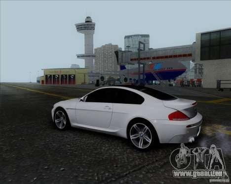 BMW 6 Series M für GTA San Andreas Innenansicht