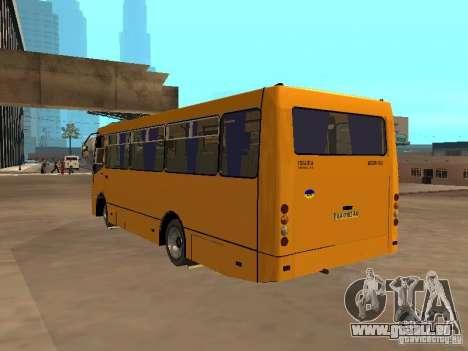 BOGDAN A 09202 pour GTA San Andreas vue intérieure