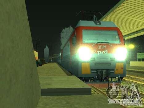 ÈP1M-392 OJSC « CHEMINS DE FER RUSSES » pour GTA San Andreas laissé vue