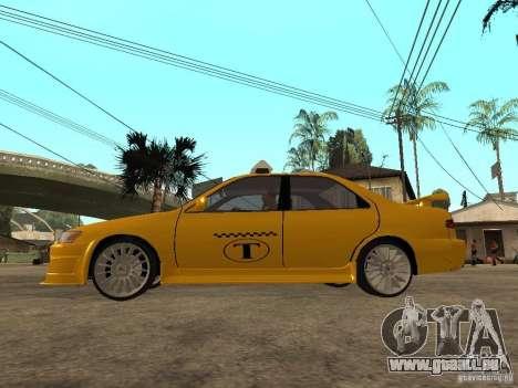 Toyota Camry TAXI für GTA San Andreas linke Ansicht