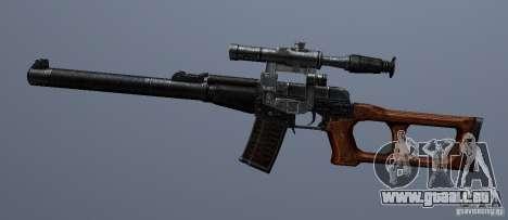 VSS Vintorez pour GTA San Andreas troisième écran