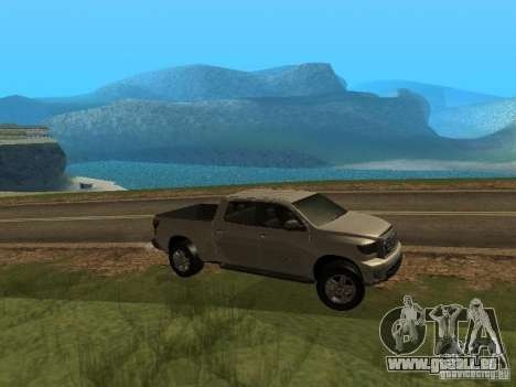 Toyota Tundra 2009 pour GTA San Andreas vue de droite