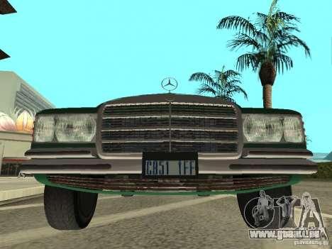 Mercedes - Benz 280SE für GTA San Andreas zurück linke Ansicht