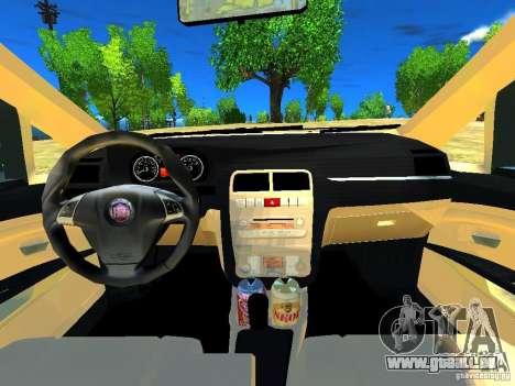 Fiat Linea für GTA 4 Innenansicht