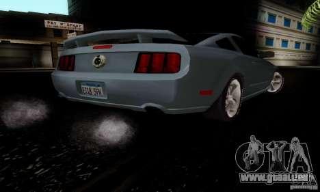 Ford Mustang GT für GTA San Andreas Rückansicht