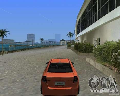 Pontiac G8 GXP pour GTA Vice City sur la vue arrière gauche
