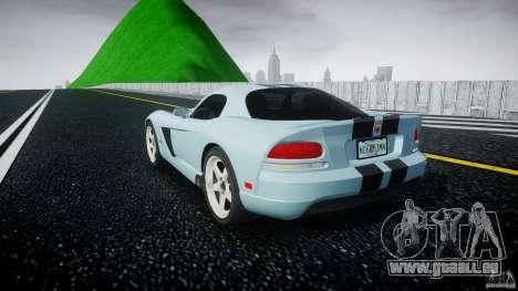 Dodge Viper SRT-10 pour GTA 4 Vue arrière de la gauche