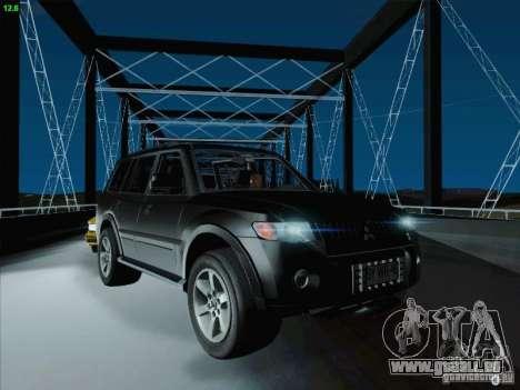 Mitsubishi Montero pour GTA San Andreas vue de dessus