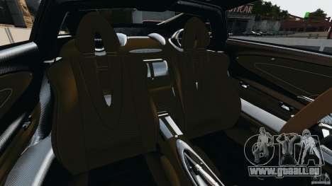 Pagani Huayra 2011 v1.0 [RIV] pour GTA 4 est une vue de l'intérieur