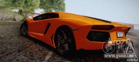 Lamborghini Aventador LP700-4 Final für GTA San Andreas Unteransicht