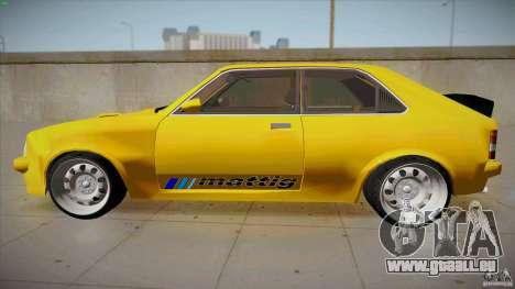 Opel Kadett D GTE Mattig Tuning für GTA San Andreas linke Ansicht