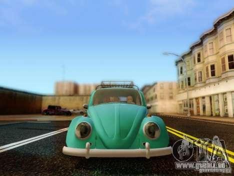 Volkswagen Beetle 1300 pour GTA San Andreas vue arrière
