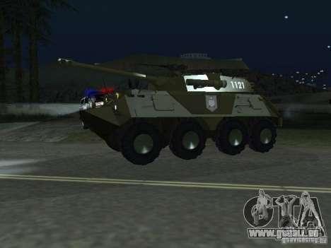 APC-60FSV pour GTA San Andreas sur la vue arrière gauche