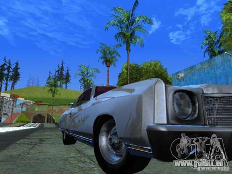 Chevrolet Monte Carlo 1970 pour GTA San Andreas sur la vue arrière gauche