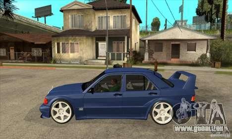Mercedes-Benz w201 190 2.5-16 Evolution II pour GTA San Andreas laissé vue