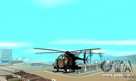 AH-6C Little Bird für GTA San Andreas Innenansicht