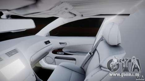 Lexus GS450 2006 Limousine pour GTA 4 est une vue de l'intérieur