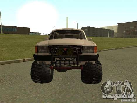 31022 Volga gaz 4 x 4 pour GTA San Andreas laissé vue
