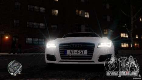 Audi A7 Sportback pour GTA 4 vue de dessus
