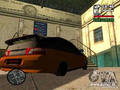 VAZ 2110 HERTZ-style (DAG) Orange pour GTA San Andreas sur la vue arrière gauche