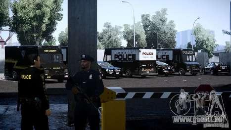 Boxville Police für GTA 4 Innenansicht