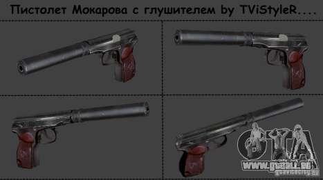 Makarov pistolet avec silencieux pour GTA San Andreas