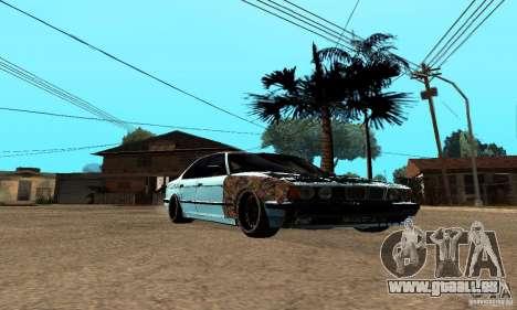 BMW 525 pour GTA San Andreas laissé vue
