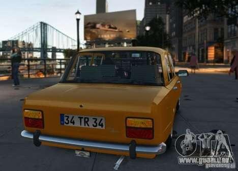 Fiat 124 für GTA 4 rechte Ansicht