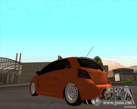 Toyota Yaris II Pac performance für GTA San Andreas linke Ansicht