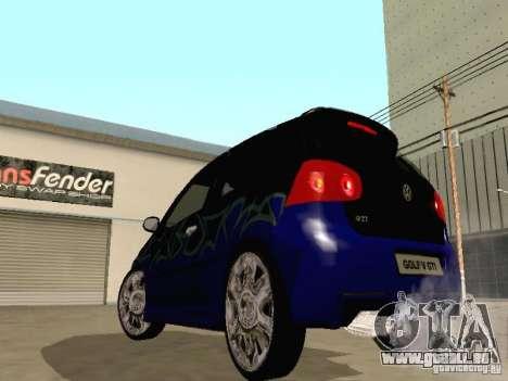 Volkswagen Golf V GTI pour GTA San Andreas vue intérieure