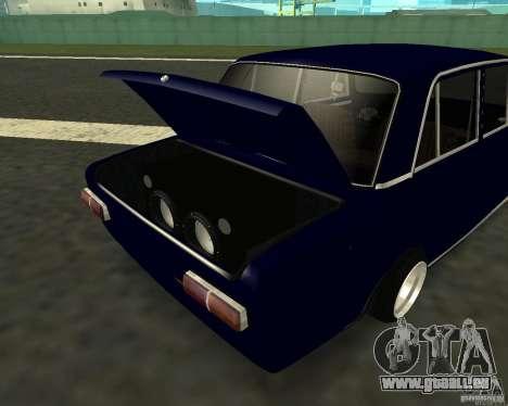 VAZ 2101 pour GTA San Andreas sur la vue arrière gauche