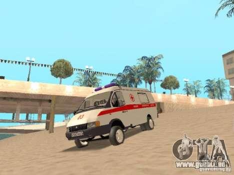 Ambulance Gazelle 2705 pour GTA San Andreas laissé vue