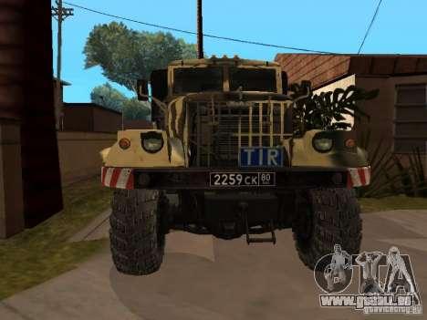 KrAZ 255 B1 v 2.0 pour GTA San Andreas laissé vue
