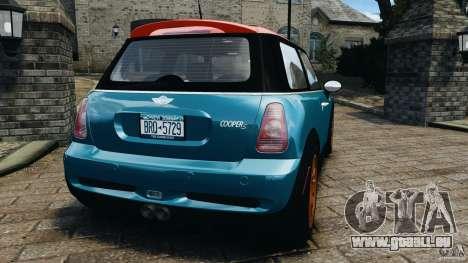 Mini Cooper S v1.3 für GTA 4 hinten links Ansicht